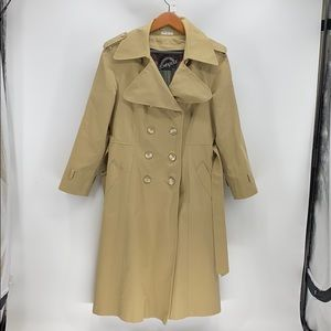 Vintage Downpour trench coat fitted fleece lined